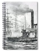 The Days Of Steam And Sail Spiral Notebook