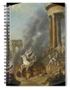 The Death Leap Of Marcus Curtius Spiral Notebook