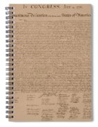 The Declaration Of Independence Spiral Notebook