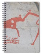 The Deer And Female Hunter Spiral Notebook