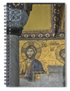 The Deesis Mosaic With Christ As Ruler At Hagia Sophia Spiral Notebook