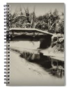 The Delaware Canal At Washingtons Crossing  Spiral Notebook