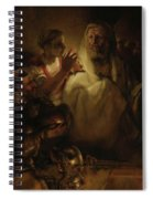 The Denial Of St Peter Spiral Notebook