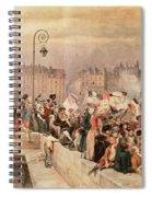 The Departure Of The Volunteers 1792 Spiral Notebook