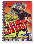 The Desert Fox  James Mason Theatrical Poster Number 2 1951 Color Added 2016 Spiral Notebook