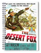 The Desert Fox  James Mason Theatrical Poster Number 3 1951 Color Added 2016 Spiral Notebook