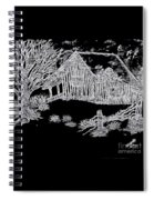 The Deserted Cabin At Night Spiral Notebook