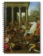 The Destruction Of The Temples In Jerusalem By Titus Spiral Notebook