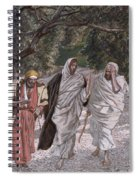 The Disciples On The Road To Emmaus Spiral Notebook