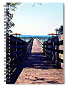 The Dock At Lake George  Spiral Notebook