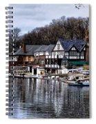 The Docks At Boathouse Row - Philadelphia Spiral Notebook