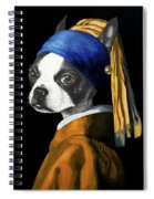 The Dog With A Pearl Earring Spiral Notebook