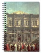 The Doge Visiting The Church And Scuola Di San Rocco Spiral Notebook