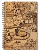 The Doll, The Kitties And The Gingerbread Boy Spiral Notebook