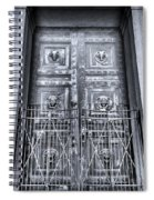 The Door At The Parthenon In Nashville Tennessee Black And White Spiral Notebook
