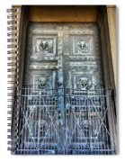 The Door At The Parthenon In Nashville Tennessee Spiral Notebook