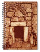 The Door Of Humility At The Church Of The Nativity Bethlehem Spiral Notebook