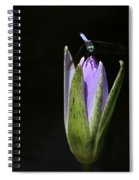 The Dragonfly And The Water Lily  Spiral Notebook