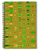 The Dreaded Bull Head Sticker Yellow Flower Abstract Spiral Notebook