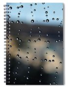 The Droplet Curtain Spiral Notebook