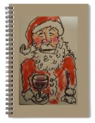 The Drunken Santa Spiral Notebook