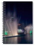 The Dubai Fountain At Burj Khalifa Spiral Notebook