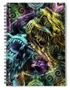 The Duel Of The Dragons  Spiral Notebook