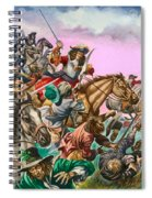 The Duke Of Monmouth At The Battle Of Sedgemoor Spiral Notebook