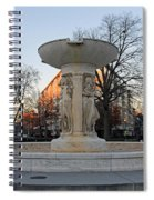 The Dupont Circle Fountain Without Water Spiral Notebook