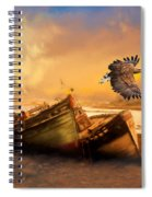 The Eagle And The Boat Spiral Notebook