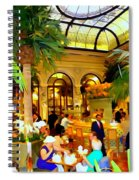 The Easter Holiday Tea At The Palm Court Spiral Notebook