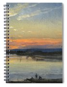 The Elbe In Evening Light Spiral Notebook