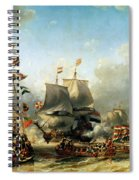 The Embarkation Of Ruyter And William De Witt In 1667 Spiral Notebook
