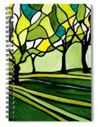 The Emerald Glass Forest Spiral Notebook