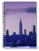 The Empire State Building In New York At 6 A. M. In January Spiral Notebook