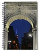The Empire State Building Through The Washington Square Arch Spiral Notebook