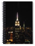 The Empire States At Night Spiral Notebook
