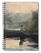 The End Of The Day Adirondacks Spiral Notebook
