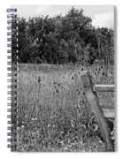 The End Of The Fence Bw Spiral Notebook