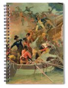The English Navy Conquering A French Ship Near The Cape Camaro Spiral Notebook