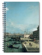 The Entrance To The Grand Canal And The Church Of Santa Maria Della Salute Spiral Notebook