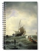The Entrance To The Harbour At Hellevoetsluys Spiral Notebook
