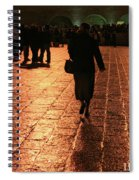 The Entrance To The Western Wall At Night Spiral Notebook