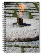 The Eternal Flame At President John F. Kennedy's Grave Spiral Notebook