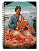 The Evangelist John At Patmos Spiral Notebook