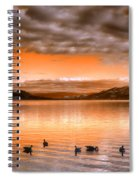 The Evening Geese Spiral Notebook