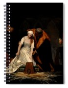 The Execution Of Lady Jane Grey In The Tower Of London In The Year 1554 Spiral Notebook