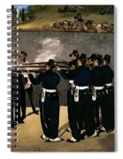 The Execution Of The Emperor Maximilian Spiral Notebook