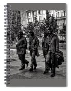 The Fab Four In Black And White Spiral Notebook