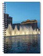 The Fabulous Fountains At Bellagio - Las Vegas Spiral Notebook